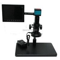 14MP HDMI USB Digital Microscope Camera+Large Floor Maintenance Workbench+10X 180X Optical C Mount Lens+LED Light+8 inch Monitor