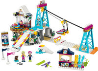 Compatible Legoe Friends 41324 632pcs Ski Resort Cable Car Hotel Figure Model Building Block Brick Toys