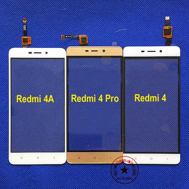 Белый/Золото/Черный Redmi 4A Внешний Стекло Сенсорного Экрана Панели Дигитайзер Для Xiaomi Redmi 4/Redmi 4 Pro/Премьер-замена