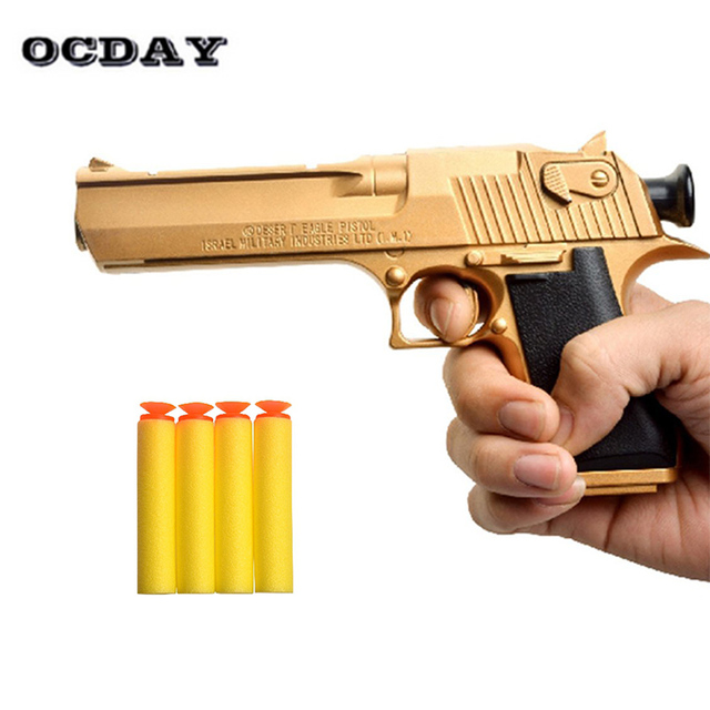 Kids Soft Bullet Gun Toys Simulation Gun with Soft Bullets For Nerf Gun  Safety Plastic airsoft