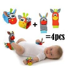 New Arrival Baby Rattle toy Set Sensory Toys Foot-finder Socks Wrist Bracelet Gift