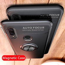 Luxury Car Holder Ring Case On The For Huawei P20 Pro P30 Lite Phone Case For Huawei P20 Lite P30 Pro Shockproof Silicone Case(China)