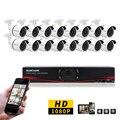 SunChan 16CH CCTV Sistema 1080 P HDMI 16CH DVR 2.0 MP AHD Seguridad Al Aire Libre IR Sistema de Cámara Cámara de Vigilancia 3000TVL