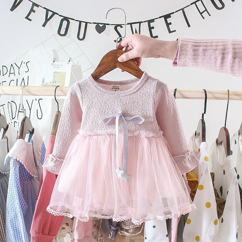 2019 Autumn Baby Girl Dress Cotton Long Sleeve Kids Dress Fashion Infant Clothes
