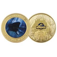Coin-Dinosaur Home-Decoration-Accessories World Jurassic Metal 24k-Gold-Plated Creative