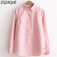 Wholesale And Retail Good Quality Girls Fresh Style Plaid Shirts Long Sleeve Embroidery Small Whale Pattern