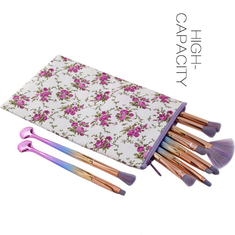 Makeup Brush Bag Portable Cosmetic Artist Brushes Case Holder Organizer Pouch Pocket Beauty Make Up Tool With Zipper New