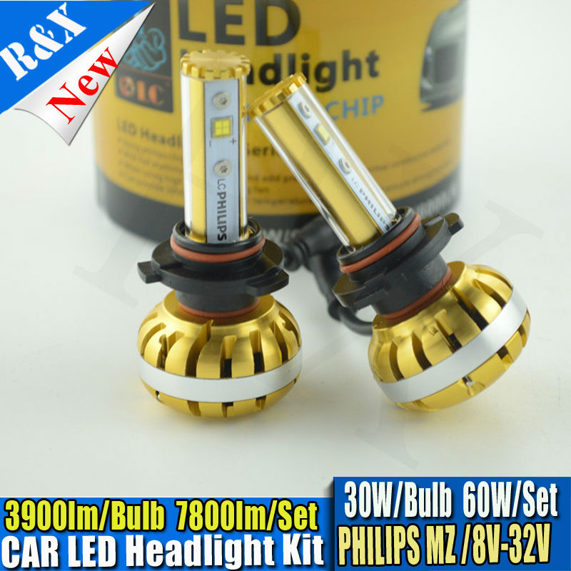Canbus 60W 7800LM 9005 HB3 Car Auto Fog LED 6000K P hilips Headlight Conversion Bulb Light Kit Set 3000K 10000K optional 12v led light auto headlamp h1 h3 h7 9005 9004 9007 h4 h15 car led headlight bulb 30w high single dual beam white light