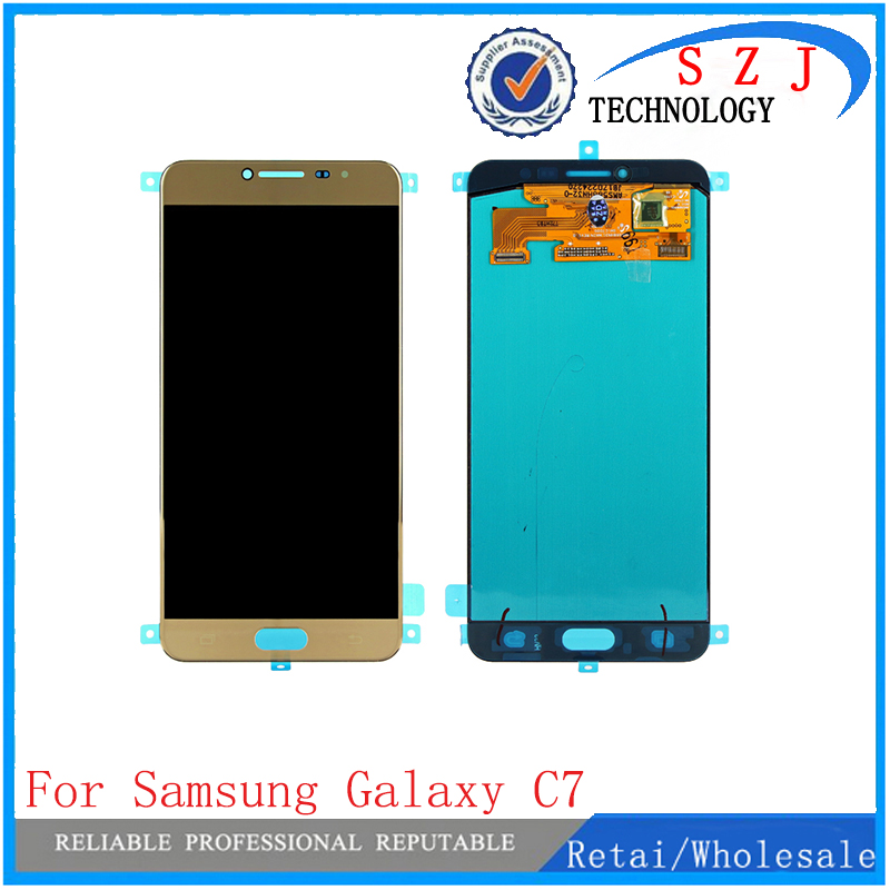 New LCD Display Touch Screen For Samsung Galaxy C7 C7000 LCD Screen Digitizer Pantalla Complete Replacement Assembly smartphone black white 5 7 for explay cinema lcd screen display digitizer with touch screen complete assembly tracking code
