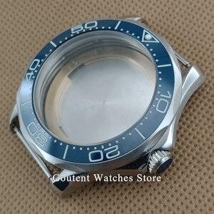 Image 1 - Sıcak Satış 41mm gümüş saat Durumda Süper Parlak Çerçeve Fit ETA 2836 MIYOTA 8215 821A Otomatik Hareket