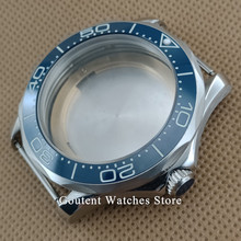 Venda quente 41mm Relógio De Prata Caso Super Luminoso Moldura Apto para ETA 2836 Movimento MIYOTA 8215 821A Automático