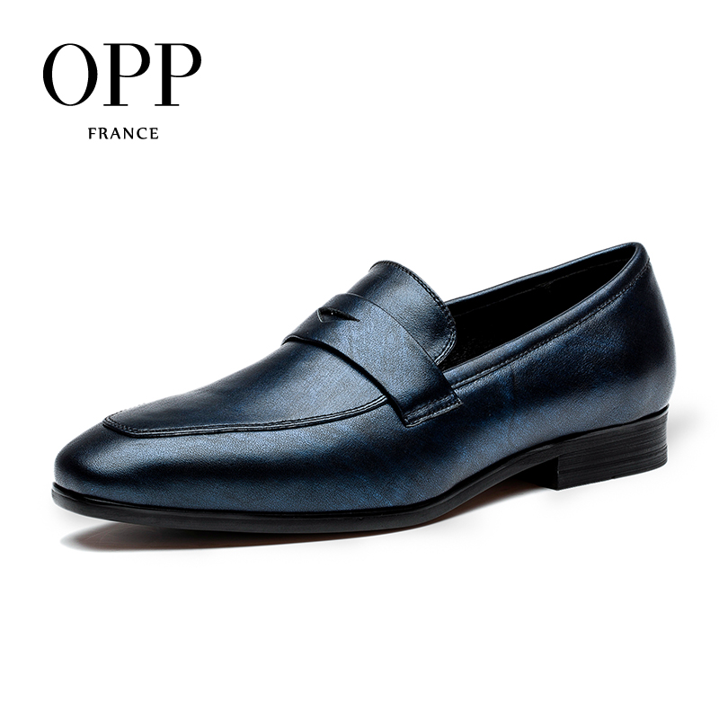 OPP 2017 Men's Leather Dress Shoes Genuine Leather with Buckle Casual Dress Shoes Low Heel Oxfords for Men okhotcn buckle strap men leather shoes fashon graffiti newspaper print lace up men oxfords shoes for men low heel casual shoes