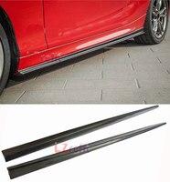 Реальные углеродного волокна боковые юбки 1 пара для BMW F22 M235i F22 M Sport