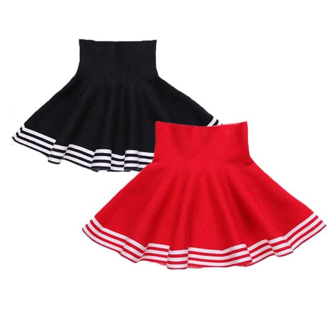 27538e7b31 2018 Moda Wiosna Dziewczynek Spódniczki Casual Dzianiny W Paski Spódnica  dla Dziewczynki Pettiskirt Tutu Tulle Odzież