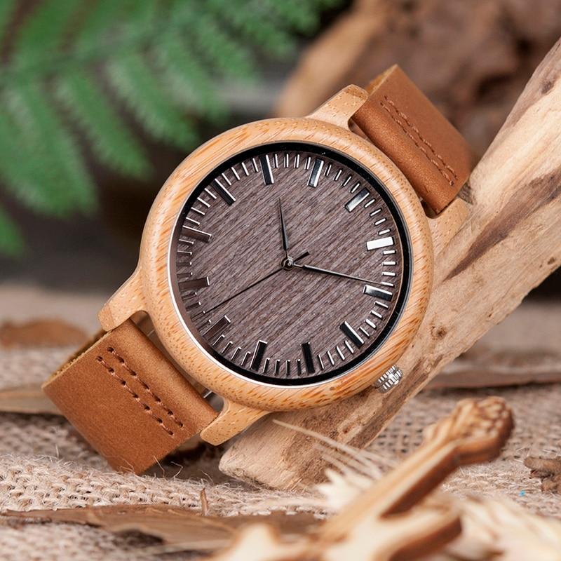 BOBO BIRD V-A18 Topmærke Træ ure Herre Casual Bamboo Quartz - Mænds ure - Foto 4