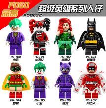 8 Шт./лот Новый бэтмен фильм Minifig набор Джокер Харли Квинн Робин Рисунках Строительный Блок Игрушки для Детей, которые поддерживаются