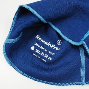 Image 5 - 100% צמר מרינו תינוק ילדים תרמית גרב רעול פנים כובע windproof כובע עבור 1 10 שנים