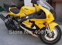 Venda quente, Barato Carroçarias carenagem Para kawasaki ZX-7R 96-03 ZX7R 1996-2003 ZX 7R Amarelo Muilt cor Da Motocicleta Carenagens