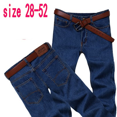Free shipping spring and winter thick plus size loose straight long jeans male denim trousers wear-resistant large pants free shipping autumn and winter male straight plus size trousers loose thick pants extra large men s jeans for weight 160kg