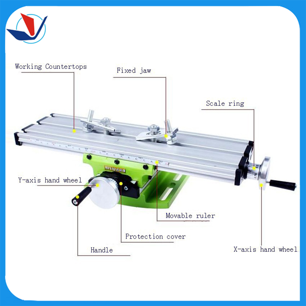 Miniature Precision Mini Multifunction Table Bench Vise Bench Drill Milling Machine Cross Assisted Positioning font b