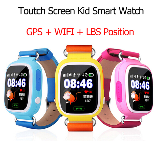 GPS Q90 Touch Screen WIFI Position Smart Watch Children SOS Call Location Finder Tracker Kid Safe Anti Lost Monitor pk Q50 Q80