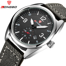 Relogio Masculino LONGBO Top Brand Luxury Mens Leather Casual Quartz-Watch Men Waterproof Sports Watches Men Watch Reloj Hombre