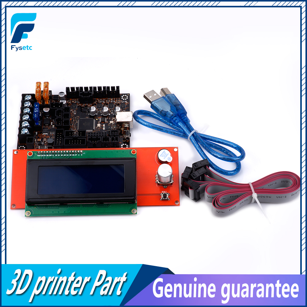 Image 5 - EinsyRambo 1.1a Mainboard For Prusa i3 MK3 With 4 Trinamic TMC2130 Control 4 Mosfet Switched Outputs + 2004 LCD Display-in 3D Printer Parts & Accessories from Computer & Office