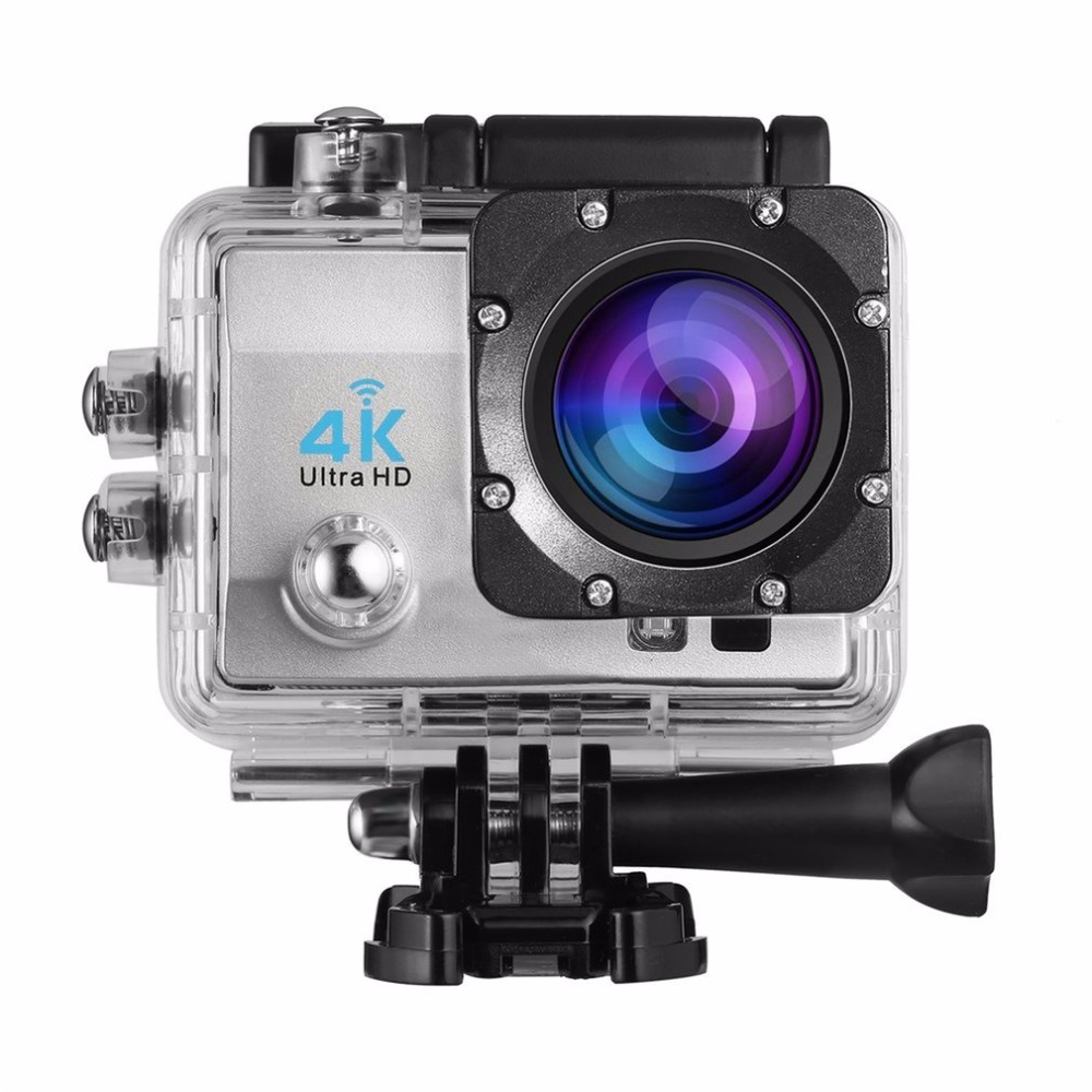 Ultra-HD LCD 1080P 4K Action Camera Wifi 12MP 170 Wide-Angle Lens Sports Camera with Waterproof Case Video Camcorder sjcam m10 1 5 lcd 2 3 cmos 12mp 1080p wide angle sports camera w tf mini hdmi red black