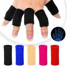 10 шт эластичные спортивные пальцевые рукава артрит поддержка защита пальцев открытый баскетбол волейбол защита пальцев#284469