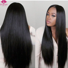 150 Density Brazilian Lace Wig For Black Women Natural Cheap Hair Wig With Baby Hair Best Brazilian Silky Straight Full Lace Wig