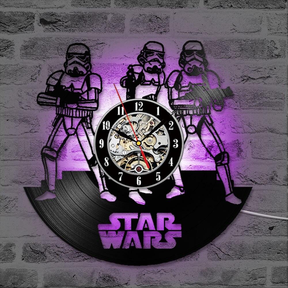 Vinyl LP Record 3D Rekord Wanduhr Star Wars Hohl CD Rekord Uhr Hause Hängen Wanduhr Kreative und Antike stil Uhr