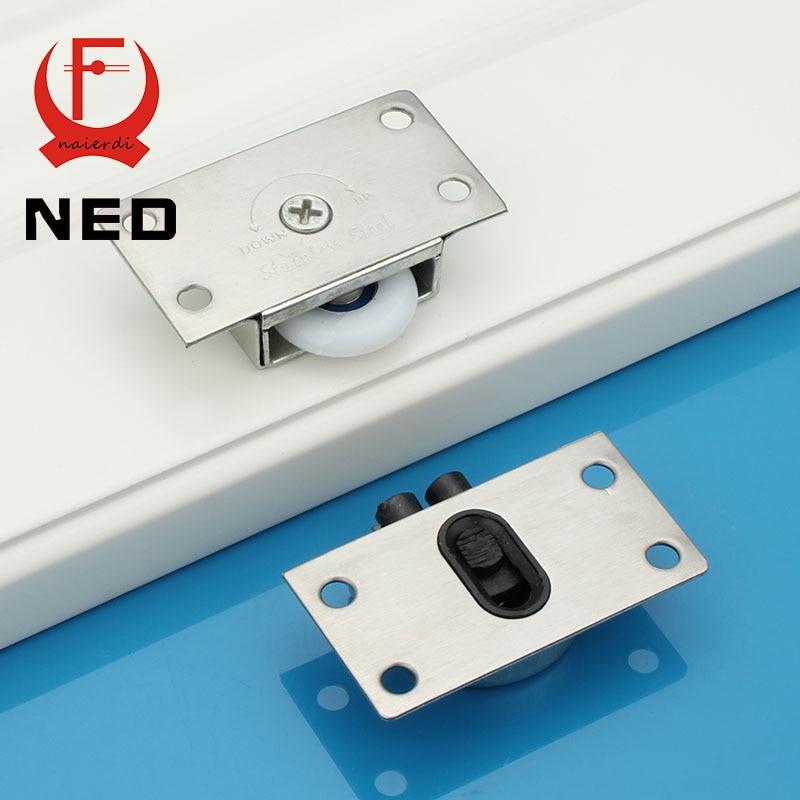 4Set 2016 NED APS Stainless Steel Sliding Door Wheel Cabinet Nylon