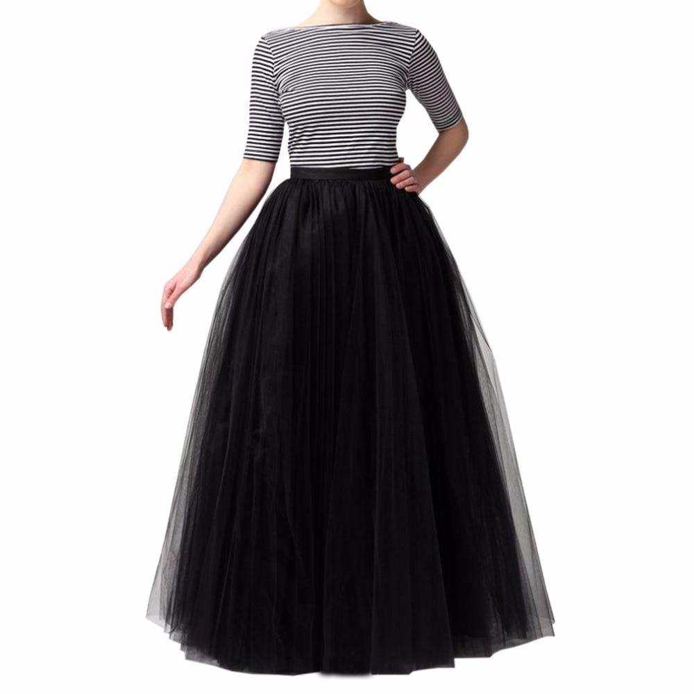 Сезон: весна–лето длинные Тюлевая юбка Женский разнообразие Цвет черная плиссированная Max Для женщин юбка-пачка качество Тюль платья для женщин
