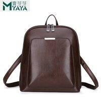 Maiyaya Fashion Women Backpack High Quality Youth Leather Backpacks For Teenage Girls Female School Shoulder Bag Bagpack mochila
