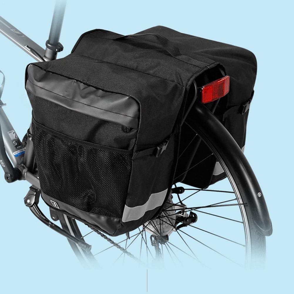 Waterproof Outdoor Bike Bicycle Cycling Pannier Strap-On Bag Rear Rack Seat Bags
