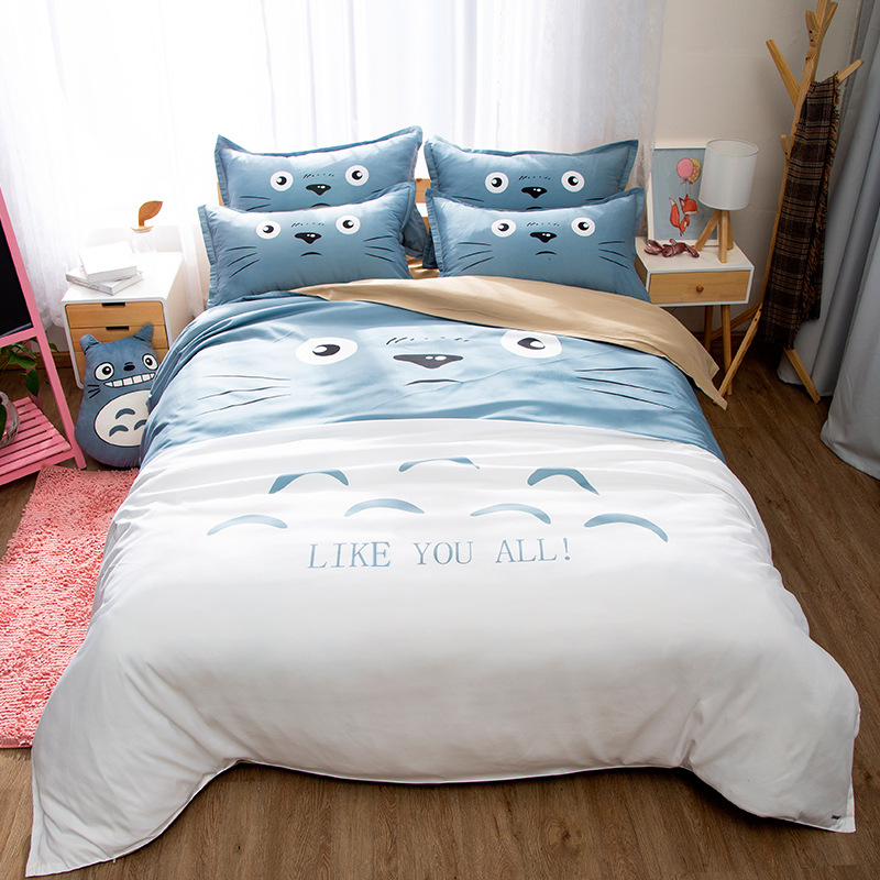 New Totoro 3Pieces Polyester Bedding Sets  1