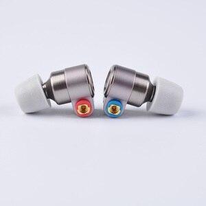 Image 3 - Ak 2019 lata de áudio t3 no ouvido fone 1dd + 1ba knowles híbrido alta fidelidade graves fone dj metal 3.5mm headplug tin t2