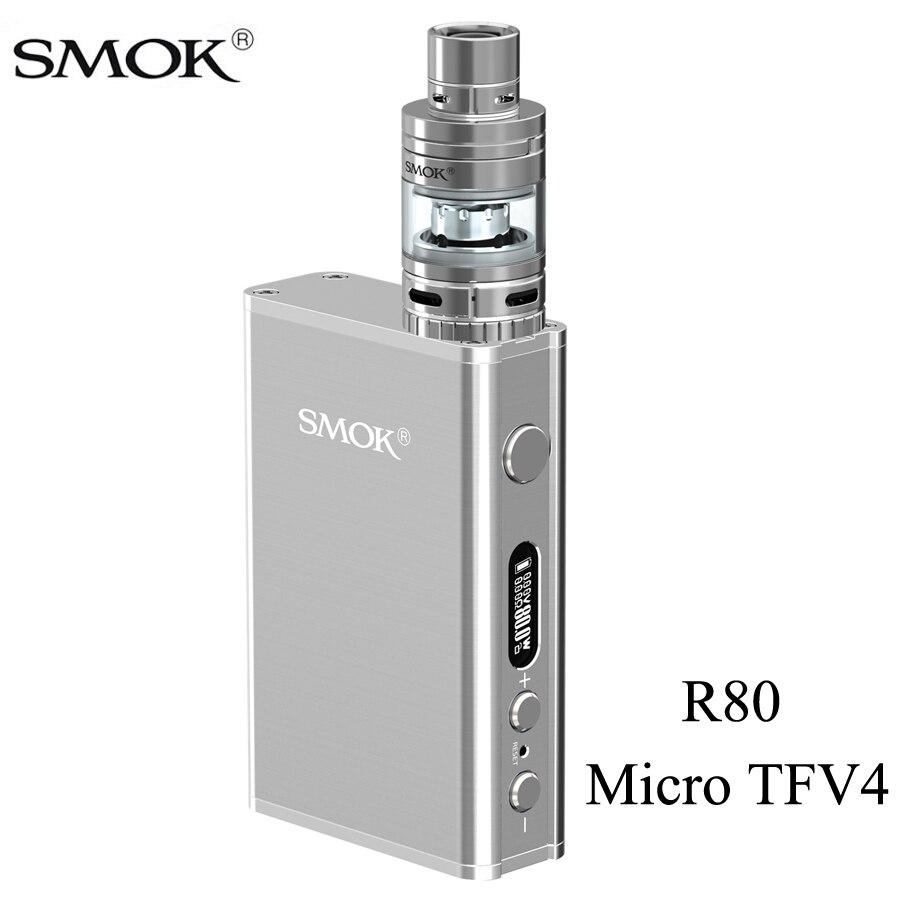 SMOK Micro One R80 Vape Box Mod Electronic Cigarette Kit With Micro TFV4 Tank Vaporizer VS