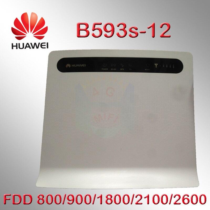 Routeur WiFi d'origine débloqué Huawei B593 B593s-12 FDD 4G LTE avec 4 ports LAN 100 Mbps pk e5776 b880 b890 e589