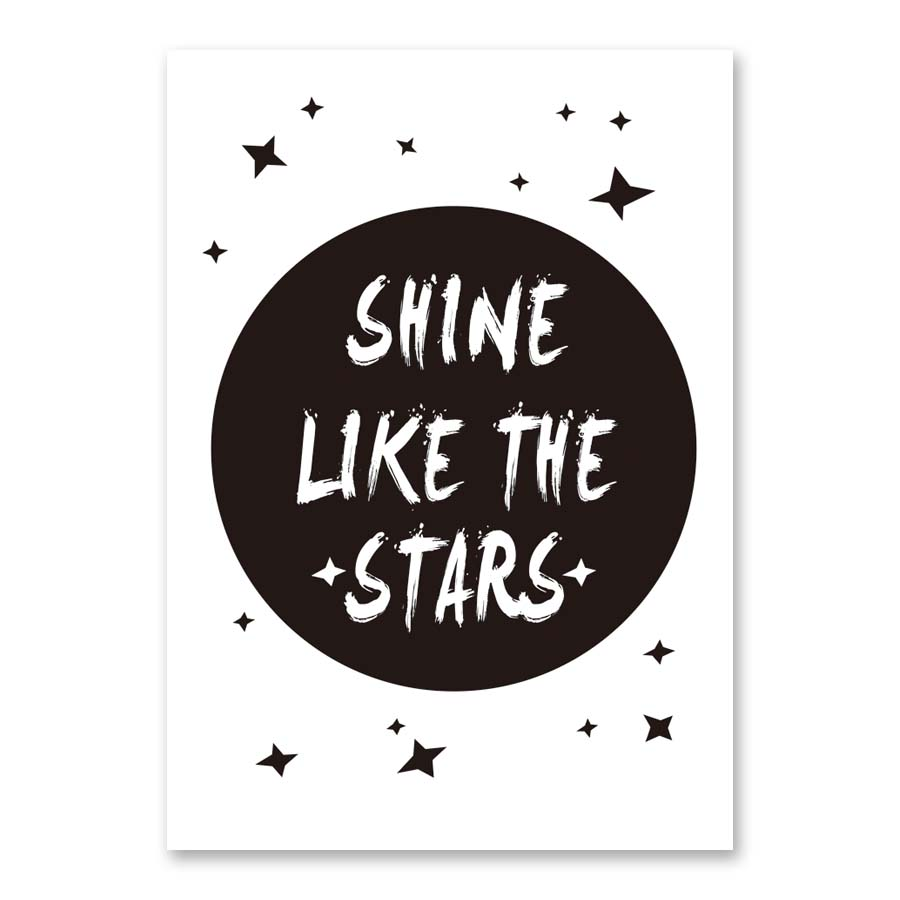 Modern Nordic Shine Like The Stars Inspirational Quotes Canvas Art