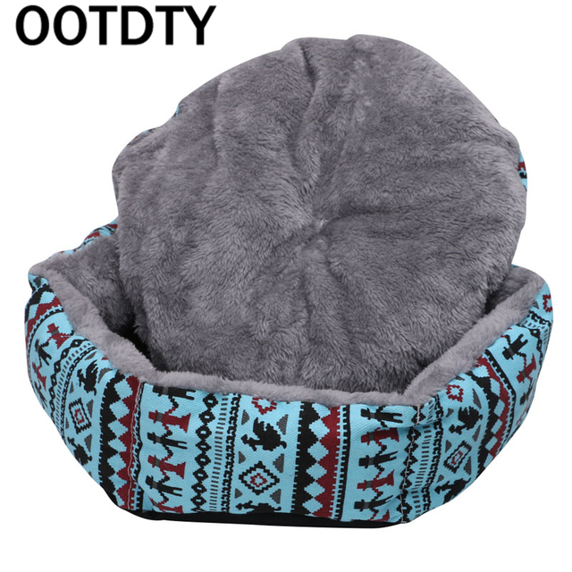 OOTDTY 2017 Pet Dog Bed Warming Dog House Soft Material Pet Nest Dog Fall and Winter Warm Nest Kennel For Cat Puppy