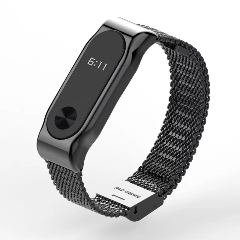 Metal Strap For Xiaomi Mi Band 2 Screwless Stainless Steel Bracelet For MiBand 2 Wristbands Replace