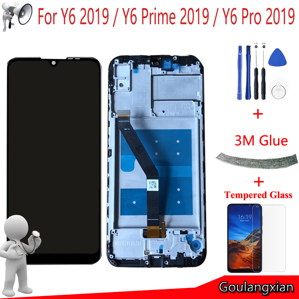 AAA Qualityl LCD With Frame For Huawei Y6 Prime 2019 Y6 Pro 2019 Y6 2019 LCD Display Touch Screen Digitizer Assembly ReplaceAAA Qualityl LCD With Frame For Huawei Y6 Prime 2019 Y6 Pro 2019 Y6 2019 LCD Display Touch Screen Digitizer Assembly Replace