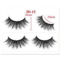 20pcs Mink Eyelashes False Eyelashes Criss cross Natural Fake lashes Length 25mm Makeup 3D Mink Lashes Extension Eyelash Beauty