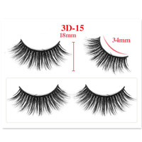 20pcs Mink Eyelashes False Eyelashes Criss cross Natural Fake lashes Length 25mm Makeup 3D Mink Lashes Extension Eyelash Beauty