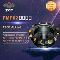 ZCC.CT original face milling cutters FMP02 high performance CNC lathe tools indexable milling tools face milling tools