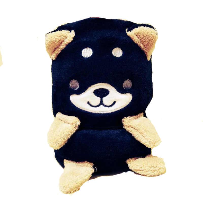 1 pcs Criativa dos desenhos animados bonito três-cor Shiba Inu cobertor cobertor presente de aniversário brinquedos de pelúcia escritório cochilando