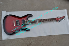 free shipping music instrument new customized electric guitar with across bridge stick tiger stripes+foam box F-1681