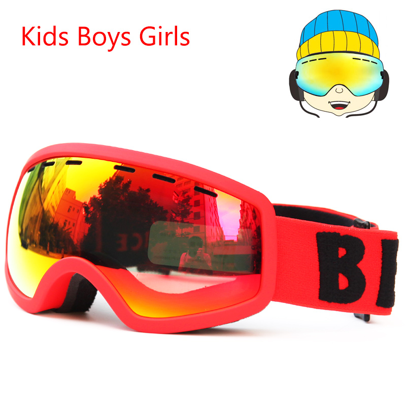 7fdbcbc32a40 Snowboard skiing goggles Kids Double Lens UV400 Anti fog Ski Snow Glasses  Children s Ski Masks Winter Girls Boys Eyewear-in Skiing Eyewear from  Sports ...