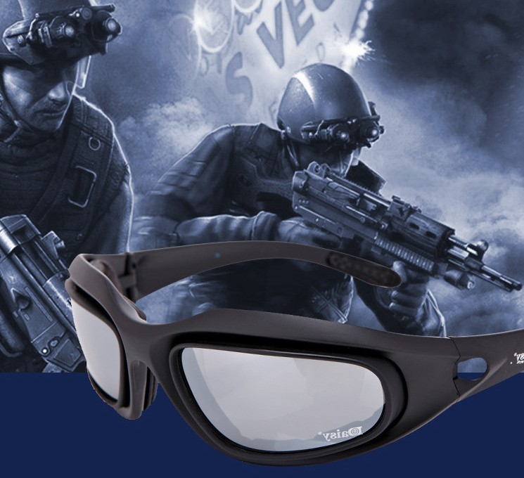 Prix pour Soutien en gros DAISY C5 polarisées lunettes de 4LS hommes militaire lunettes de soleil pare-balles armes à air comprimé tir Lunettes fumée lentilles